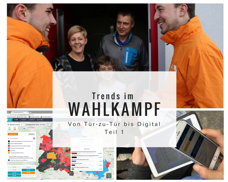 Trends im Wahlkampf: Von Tür-zu-Tür bis Digital